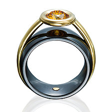 Ceramique Maxine Diamond Ring by Etienne Perret (Ceramic, Gold & Stone Ring)