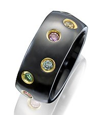 Ceramique Starlight Diamond Ring by Etienne Perret (Ceramic & Stone Ring)