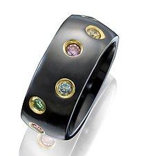Ceramique Starlight Diamond Ring by Etienne Perret (Ceramic & Stone Ring)
