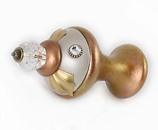 Tieback/Accessory Hook Birdie508 by Susan Goldstick (Wood Accessory Hook)