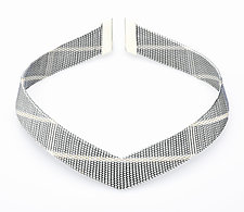 Diagonal Collar by Mackenzie Law (Silver & Steel Necklace)
