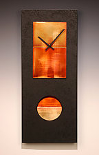 Black Pendulum Clock by Leonie  Lacouette (Metal & Wood Clock)
