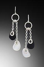Baroque Flat Bead Chain Earrings by Eloise Cotton (Art Glass Earrings)