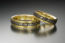 Spiral Pavers Wedding Bands by Robin Cust (Gold & Steel Wedding Band)
