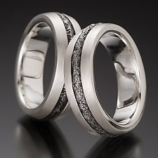 Steel Stripe Wedding Bands by Robin Cust (Silver & Steel Wedding Band)