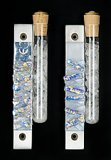 Wedding Line Mezuzah by Alicia Kelemen (Art Glass Mezuzah)