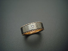 Gray and Pink by Tavia Brown (Gold, Stone & Titanium Wedding Band)