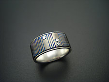 Grooves by Tavia Brown (Silver & Titanium Wedding Band)