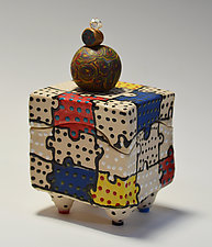 Puzzle Box by Vaughan Nelson (Ceramic Box)