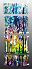 Symphony of Trees by Alice Benvie Gebhart (Art Glass Sculpture)