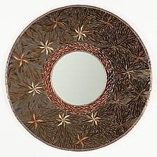 Star Leaves by Michael Solomon (Art Glass Mirror)