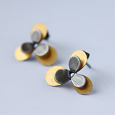 Desert Horizon Studs by Katie Carder (Gold & Silver Earrings)