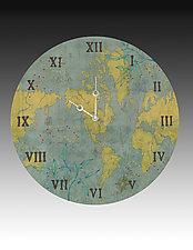 Voyages Wall Clock by Janna Ugone and Justin Thomas (Wood Clock)
