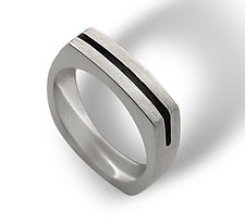 Men's Parallel Arc Ring by Claudia Endler (Gold Wedding Band)