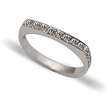 Slim Arc Pave Ring by Claudia Endler (Gold & Stone Wedding Band)