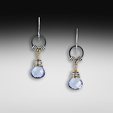 Iolite Jambalaya Earrings by Suzanne Q Evon (Gold & Stone Earrings)