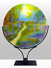 Moonlit Meadow by Anne Nye (Art Glass Sculpture)
