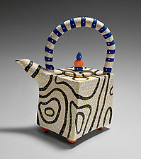 Blackline Teapot by Vaughan Nelson (Ceramic Teapot)