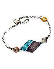 Gridlines Diamond Trio Bracelet by Beth Taylor (Silver Bracelet)
