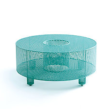 O Table in Teal by Damian Velasquez (Metal Table)