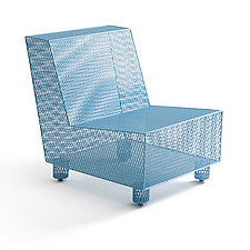 Chair No. 35 in Blue by Damian Velasquez (Metal Chair)
