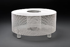 O Table in White by Damian Velasquez (Metal Table)