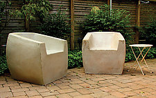 Van Dyke Chair by Zachary Bitner (Concrete & Fiberglass Chair)