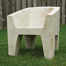 Van Eyke Chair by Zachary Bitner (Concrete & Fiberglass Chair)