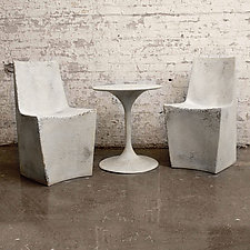 Stone Dining Chair by Zachary Bitner (Concrete & Fiberglass Chair)