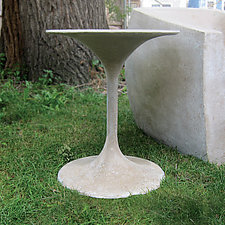 Spindle Table by Zachary Bitner (Concrete & Fiberglass Table)
