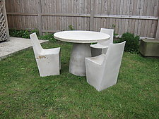 Hive Dining Table by Zachary Bitner (Concrete & Fiberglass Table)
