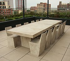 Slab Table by Zachary Bitner (Concrete & Fiberglass Table)