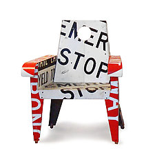Emergency Stop Broadway Armchair by Boris Bally (Metal Chair)