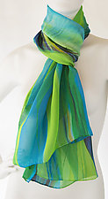 Garden in the Rain by Bette Ridgeway  (Silk Scarf)