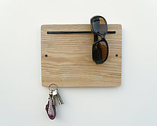 Blokkey Eyewear and Key Holder in Ash by Brad Reed Nelson (Wood Wall Organizer)