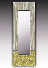 Kiwi Wall Mirror by Janna Ugone and Justin Thomas (Wood Mirror)