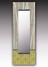 Kiwi Wall Mirror by Janna Ugone and Justin Thomas (Wood Mirror)