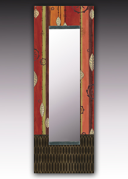 Leaf Stripe Multi Wall Mirror