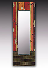 Leaf Stripe Multi Wall Mirror by Janna Ugone and Justin Thomas (Wood Mirror)