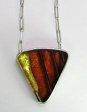 Over Dale by Velina Glass (Silver & Resin Necklace)
