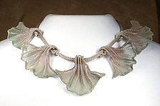 5 Leaf Ginkgo Necklace by Sarah Cavender (Metal Necklace)