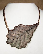 Oak Leaf Necklace by Sarah Cavender (Metal Necklace)