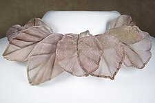 Oak and Elm Leaf Collage Necklace by Sarah Cavender (Metal Necklace)