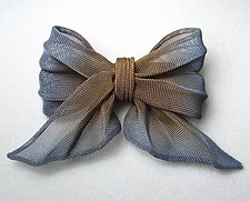 Small Bow Pin by Sarah Cavender (Metal Brooch)