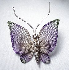 Small Coarse Mesh Butterfly by Sarah Cavender (Metal Brooch)