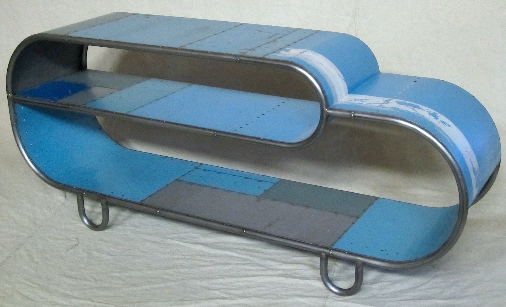 Paperclip Console in Blue by Doug Meyer (Metal Console Table)