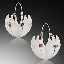 Basket Earrings by Samantha Freeman (Silver & Stone Earrings)