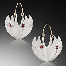 Basket Earrings by Samantha Freeman (Silver & Stone Earrings)
