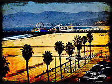 Santa Monica Pier by Lori Pond (Color Photograph)