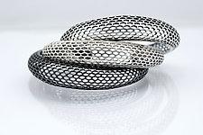 Snake Skin Cuff by Rachel Atherley (Silver Bracelet)